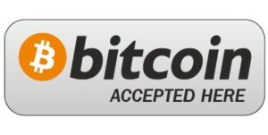 Bitcoin accepted here. Cryptocurrency Accepted